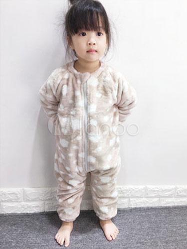f9d00ecd0 Kigurumi Pajamas Food Onesie Light Brown Flannel Long Sleeve Winter  Sleepwear For Kids Halloween-No