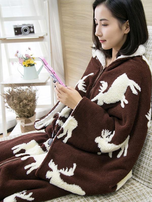 450417eb27 ... Snuggie mono pijama Navidad manga manta ropa de dormir para adulto  Halloween-No.7 ...