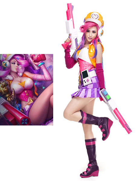 Buy League Of Legend Lol Arcade Miss Fortune The Bounty Hunter Cosplay Costume Halloween for $157.99 in Milanoo store