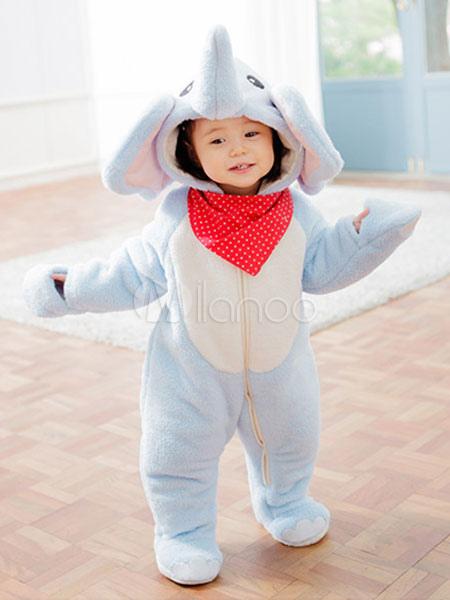 3034b2abd7 ... Kigurumi pijamas elefante mono azul algodón mono animales ropa de  dormir para niños Halloween-No ...