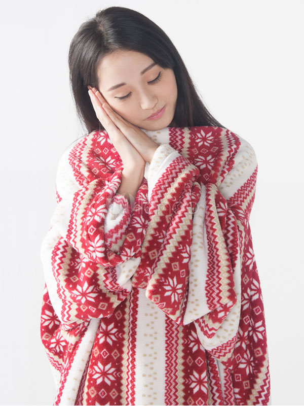4ef3bf20ff ... Snuggie mono pijama Navidad dormir manta manga para adultos-No.5 ...