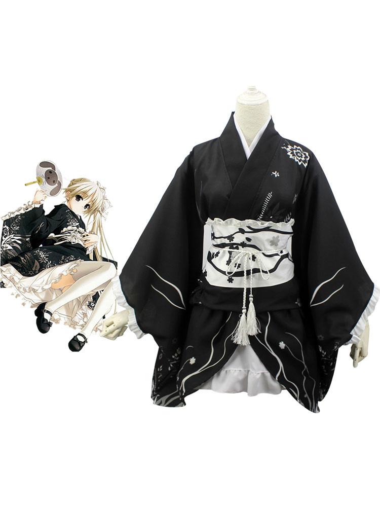 Yosuga No Sora Sora Kasugano Cosplay Costume Kimono Version Halloween