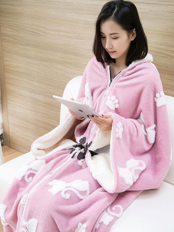 88a0dc870c ... Snuggie mono pijama Navidad manga manta ropa de dormir para adulto  Halloween-No.6 ...