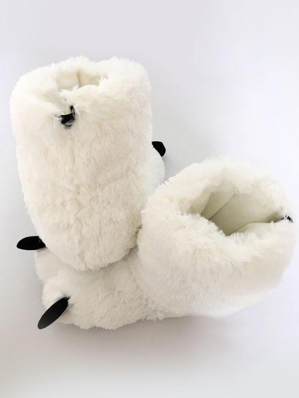 ... Kigurumi пижамы белый медведь когти Тапочки Обувь костюм аксессуары  Хэллоуин-No.2 ... a9a912e3b268e