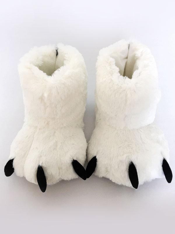 Kigurumi пижамы белый медведь когти Тапочки Обувь костюм аксессуары  Хэллоуин-No.1 ... 1656b59284c3b
