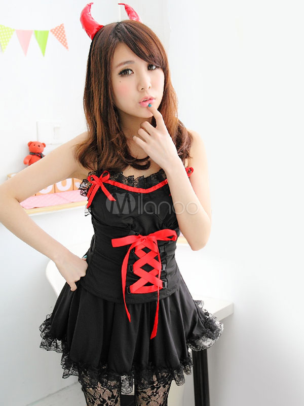 Buy Black Halloween Sexy Demon Costume Outfits Halloween for $23.91 in Milanoo store