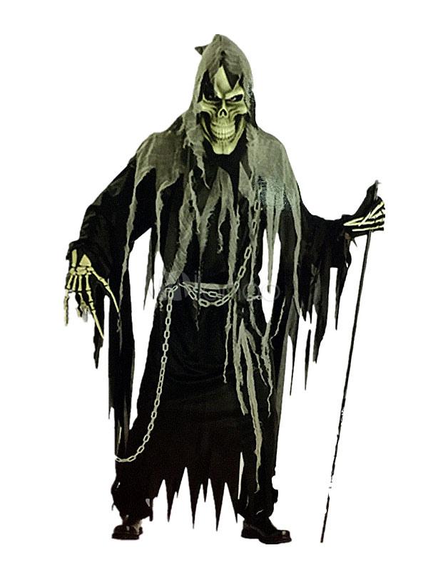 Halloween Grim Reaper Ghost Costume Black Men S Mummy Costume Halloween Milanoo Com
