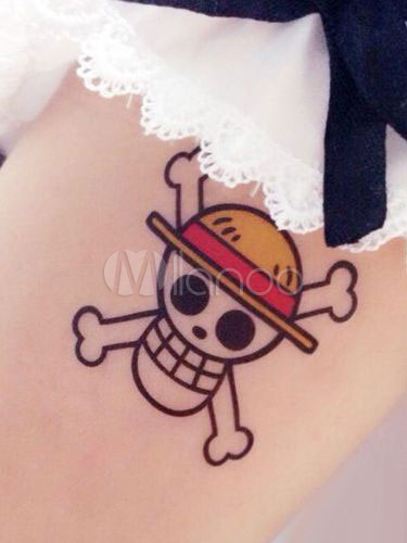 Buy One Piece Luffy Cosplay Anime Temporary Tattoo Halloween for $5.39 in Milanoo store
