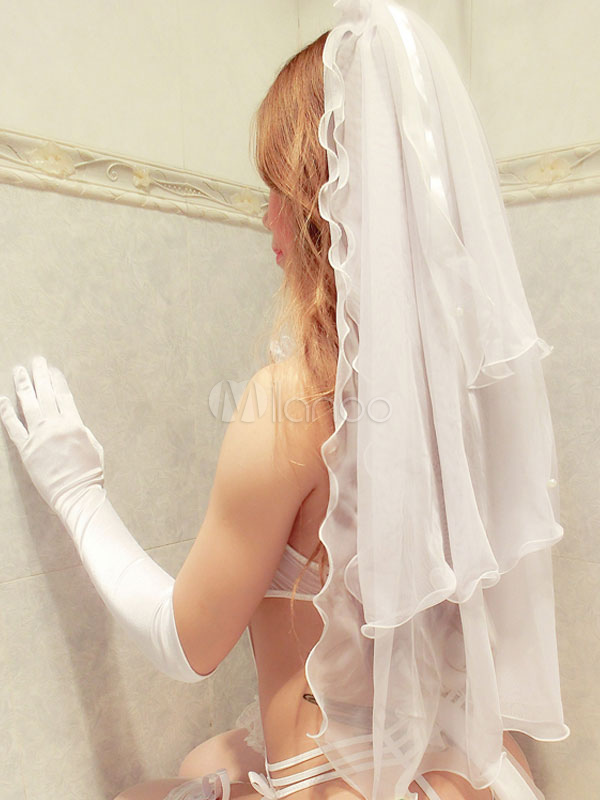 ... Sexy Bridal Lingerie Costume Outfit Halloween Halter Ruffles Teddy For  Women Halloween-No.3 ...
