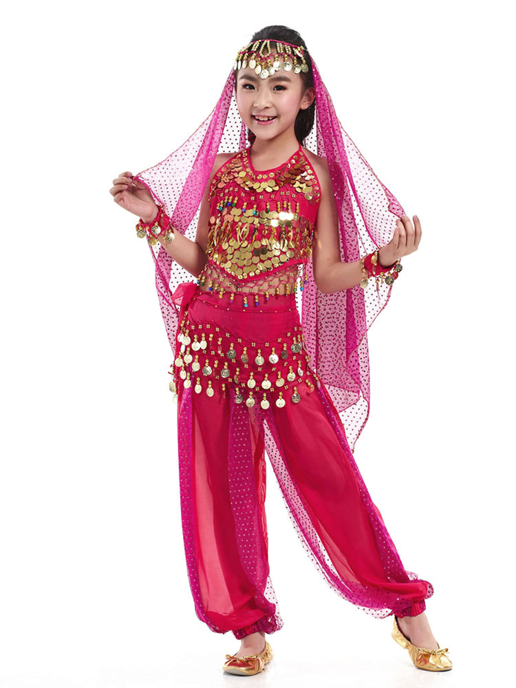Belly Dance Veil Costume Kid S Pendent Headpiece Bollywood
