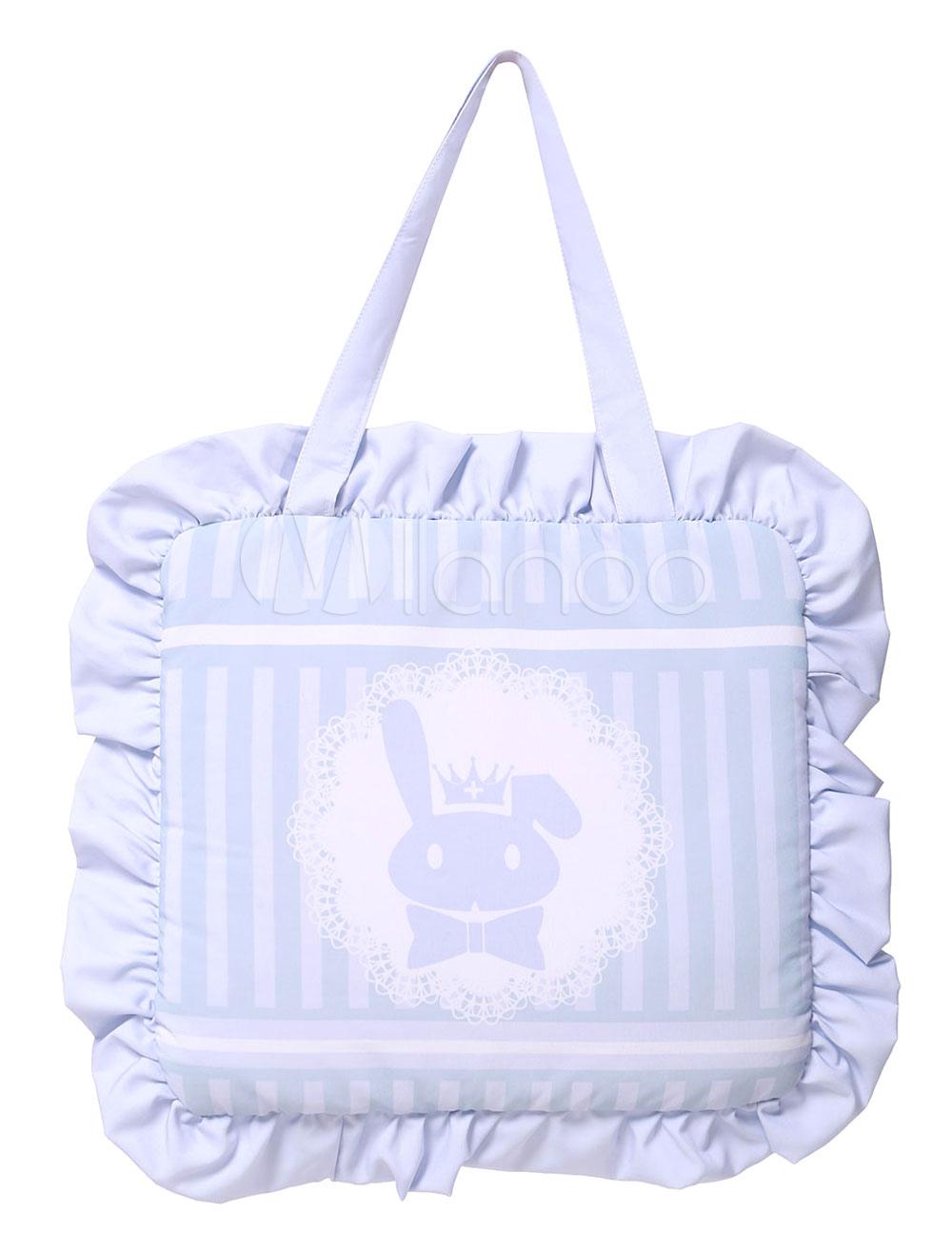 Buy Sweet Lolita Bag Lilac Cute Bunny Printed Lolita Handbag for $14.99 in Milanoo store