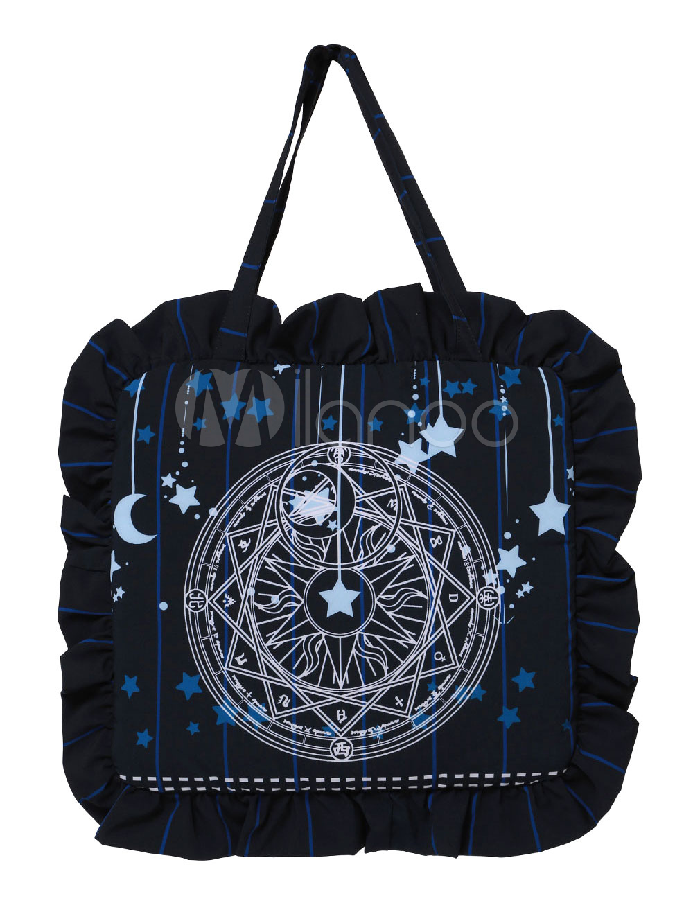 Buy Sweet Lolita Bag Black Star Printed Lolita Handbag for $15.19 in Milanoo store