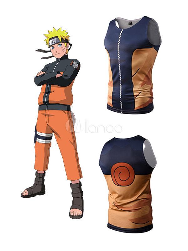 Buy Naruto Uzumaki Naruto Anime 3D Print T Shirt Halloween for $8.99 in Milanoo store