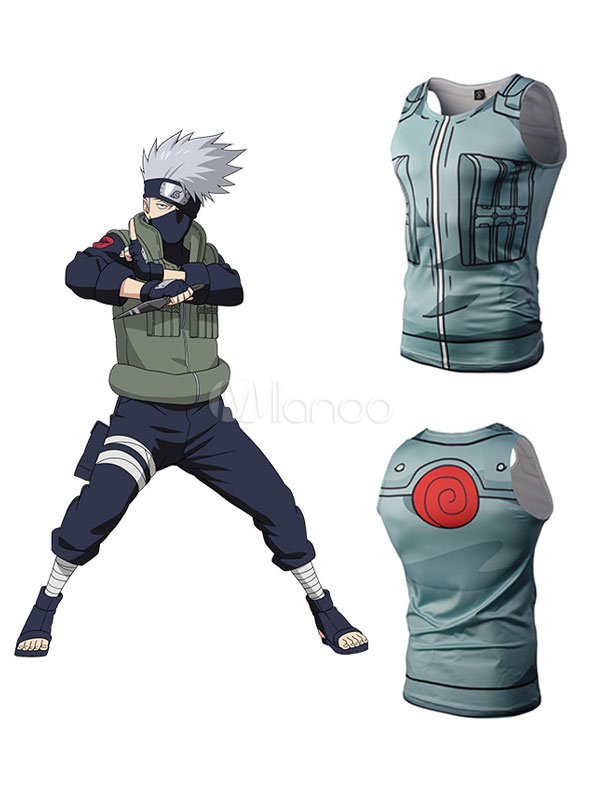 Buy Naruto Hatake Kakashi Anime 3D Print T Shirt Halloween for $8.99 in Milanoo store