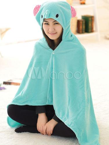95293ba0d4 Elefante de Kigurumi traje azul manta Animal franela cabo capa adulto mono  pijama Halloween-No