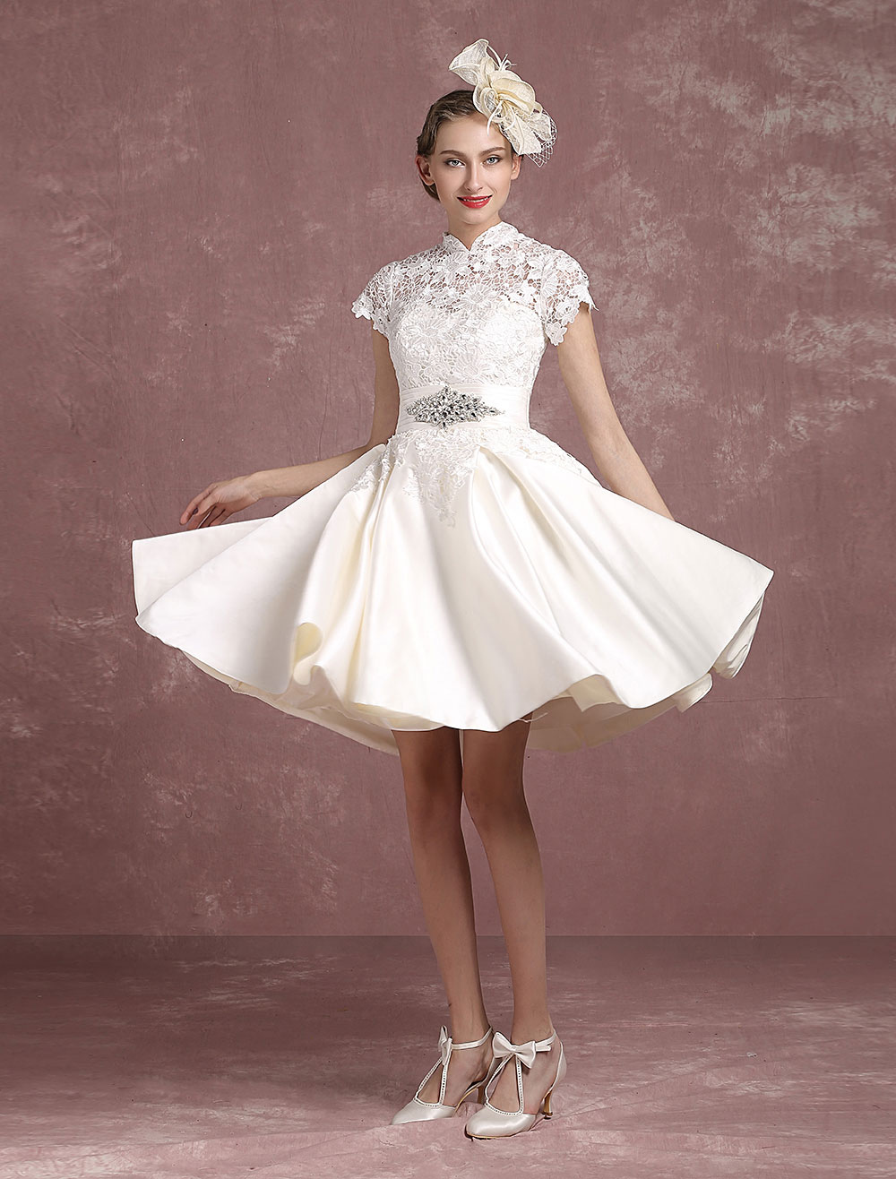 Vintage short wedding dress dress home - Retro vintage ...