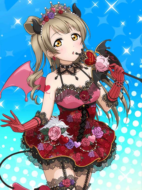 Love Live! Minami Kotori Kawaii Cosplay Costume Halloween Witch Demon Little Devil Awakening Costume Halloween