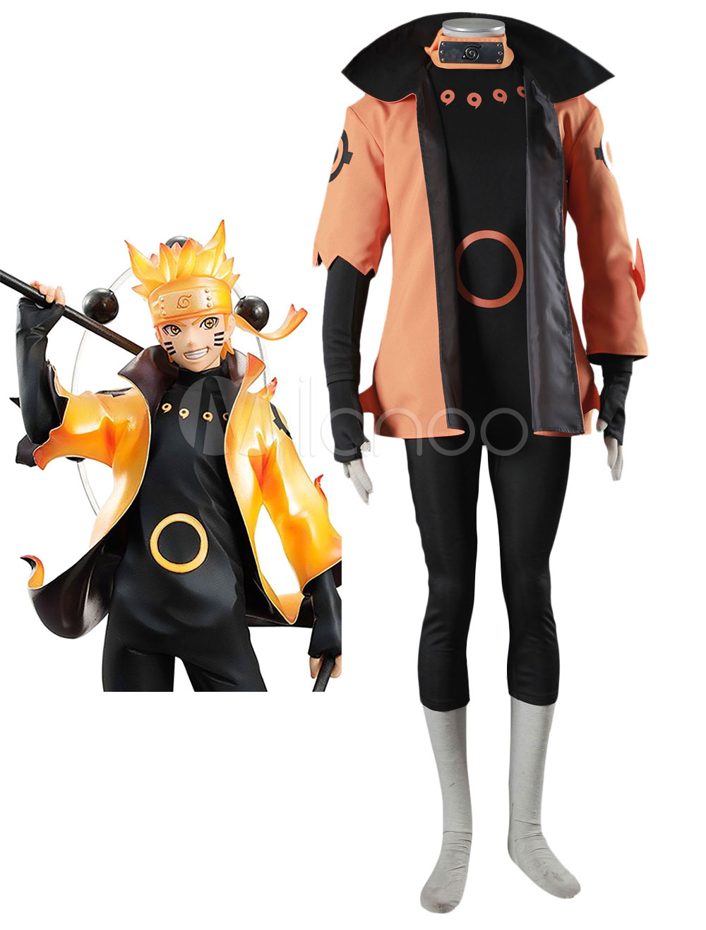 Buy Naruto Uzumaki Naruto Rikudou Sennin Model Cosplay Costume Halloween for $75.99 in Milanoo store