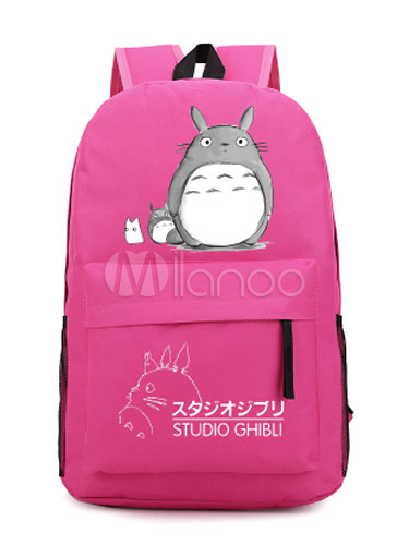 My Neighbor Totoro Red Totoro Anime Polyester Backpack Hayao Miyazaki Anime Merchandise Halloween