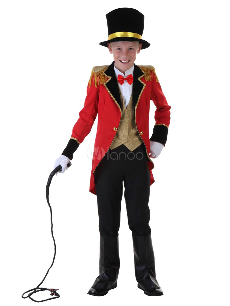 Buy Carnival Circus Lion Tamer Costume Halloween Ringmaster Costume For Kids Halloween for $64.99 in Milanoo store