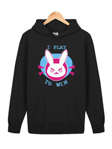 Buy Overwatch OW D.va Rabbit Black Kawaii Cotton Blend Hoodie Blizzard Video Game Hoodie Halloween for $26.09 in Milanoo store