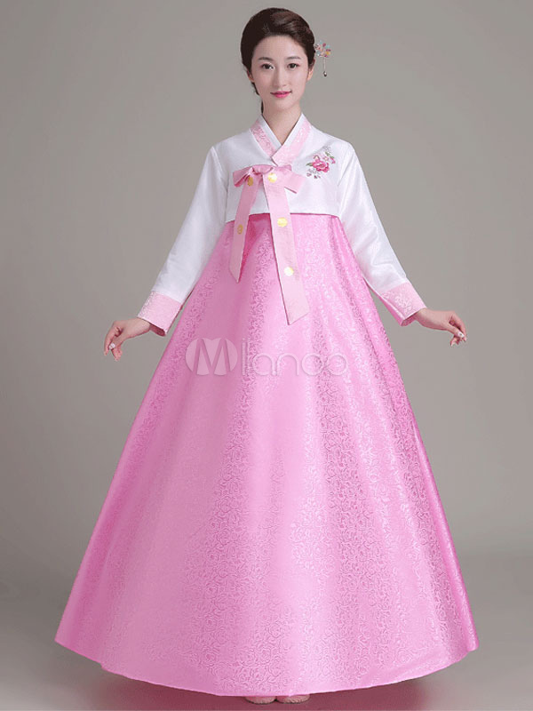 Halloween Korean Costume Traditional Fancy Dress Women\'s Pink Ball ...