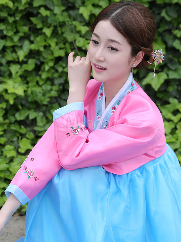 Buy Halloween Korean Costume Traditional Fancy Dress Asian Costume Women's Dress Outfit for $52.99 in Milanoo store