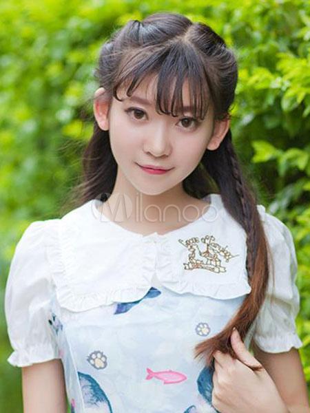 Sweet Lolita Blouse White Short Sleeve Lolita Blouse