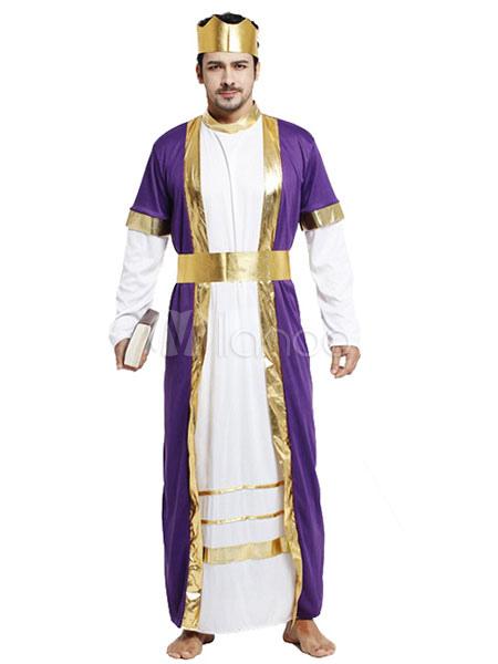 Vestido prpura traje traje asitico noche rabe disfraz Halloween