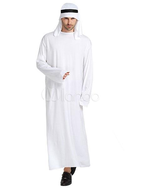 De Blanco Venda Árabe Vestido Halloween Los Hombres Asiático Traje Con wN8nOPX0k