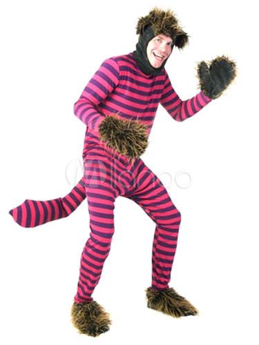 b731fac9d40bb6 Casal de Halloween traje gato de Cheshire de Alice no país das maravilhas  listra Cosplay Fantasia