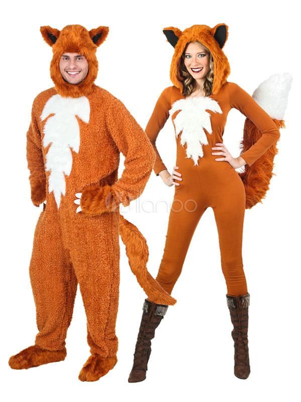 karneval paar kostum fox anime tier kunstfell overall outfit no 1