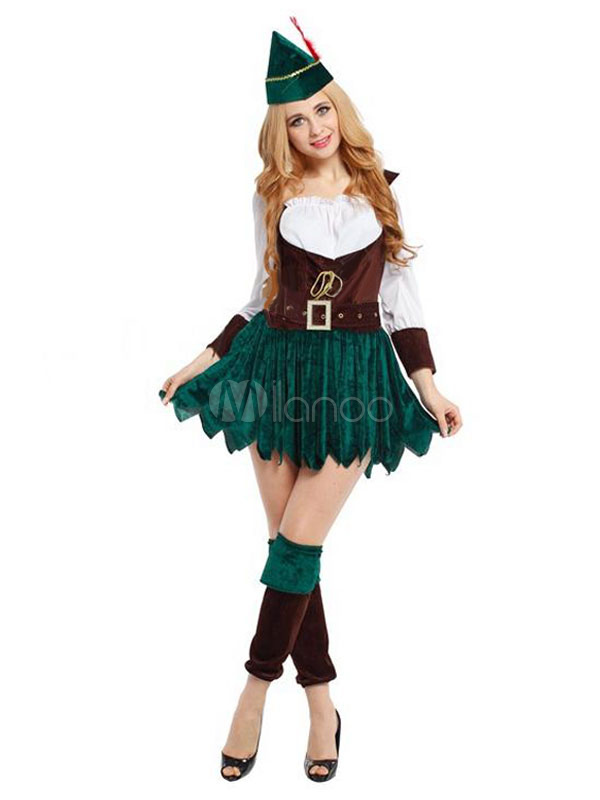 ... Halloween Couple Costume Robin Hood Saint Patricku0027s Day Green ...  sc 1 st  Milanoo.com & Halloween Couple Costume Robin Hood Saint Patricku0027s Day Green Outfit ...
