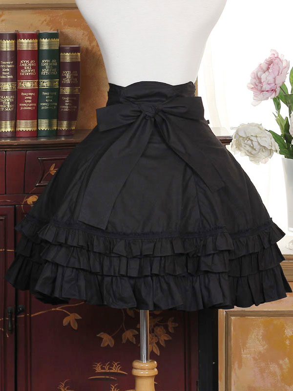 Buy Sweet Lolita Dress SK Black Cotton Lolita Skirt for $63.99 in Milanoo store