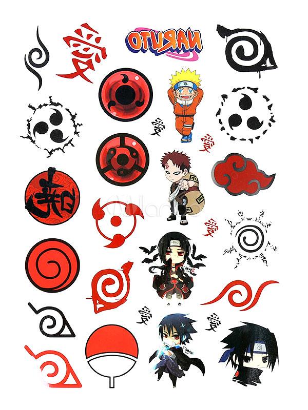 Naruto Classic Waterproof Temporary Tattoo Halloween