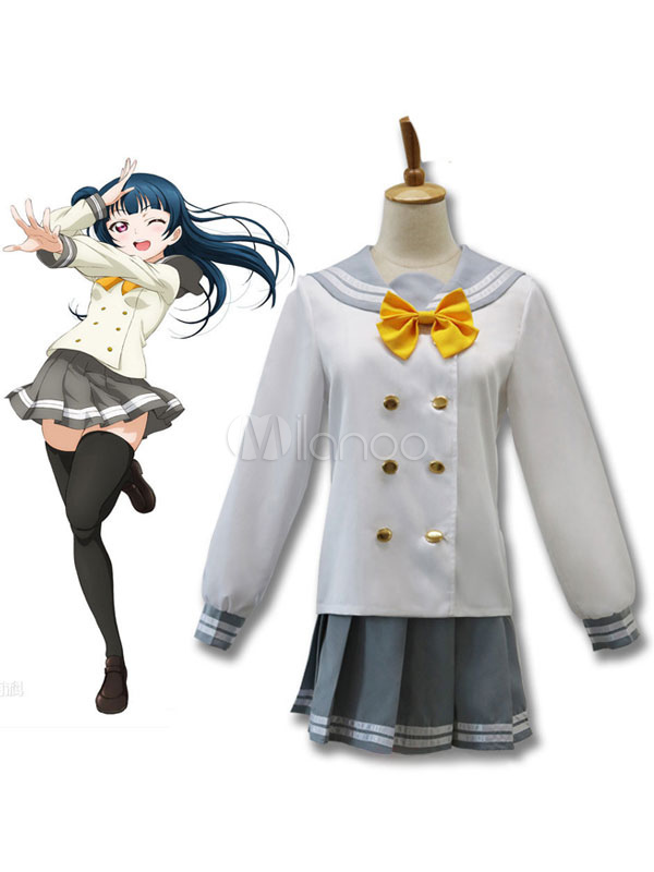 LoveLive!Sunshine!! Tsushima Yoshiko Cosplay Costume School Girl Cosplay Costume Halloween