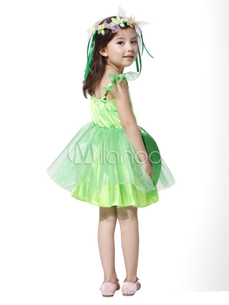 56c2a7581b2 ... Halloween Fairy Costume Saint Patrick s Day For Kids The Wizard Of Oz  Green Party Dress With