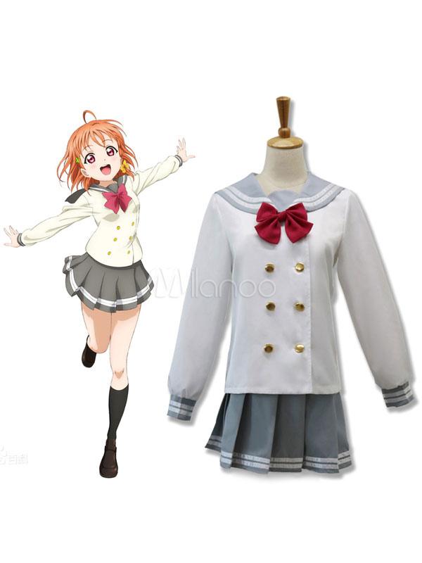 LoveLive!Sunshine!! Takami Chika Cosplay Costume School Girl Cosplay Costume Halloween