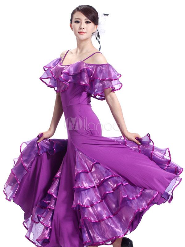 Traje de baile de salón fibra de poliéster de tul Bailarín de salón ...