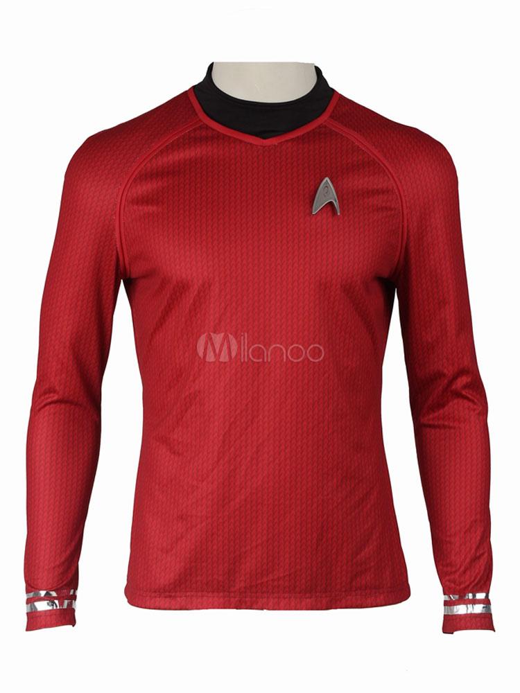 Buy Star Trek Into Darkness Spock Cosplay Costume T Shirt Halloween for $62.99 in Milanoo store