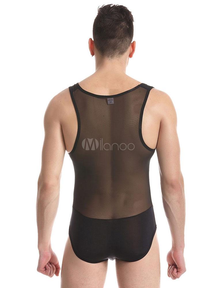 ... Sexy Gay Costume Halloween Men s Sheer Lingerie Bodysuit Clubwear ... dfaf1b550