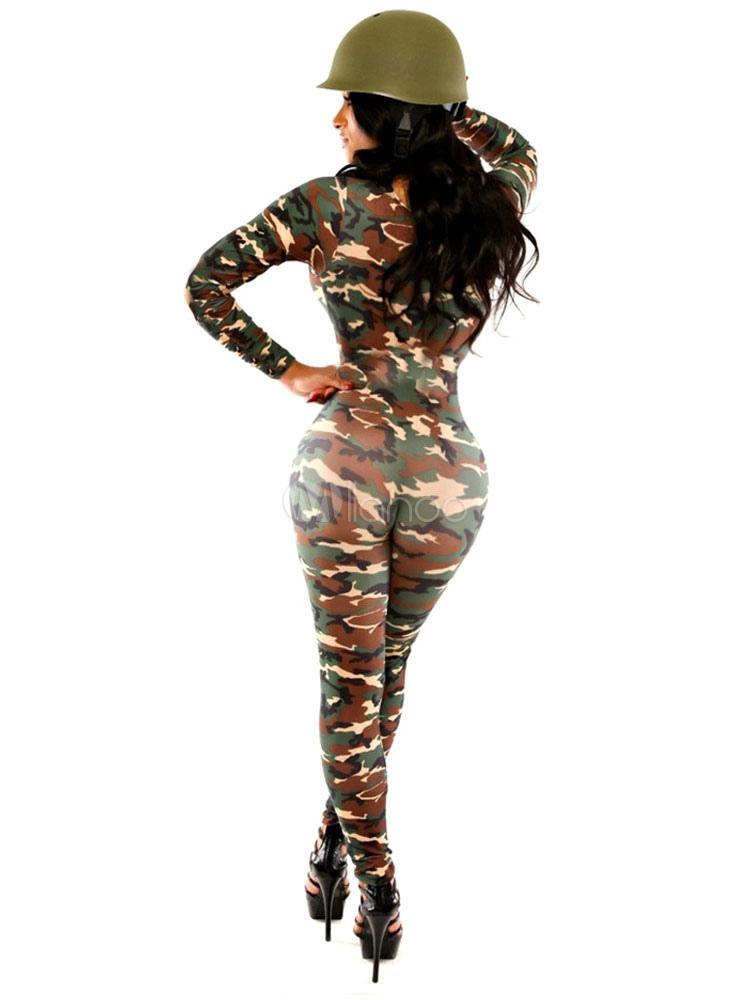 sexy army kost m damen milit r kost m camo bodycon overall. Black Bedroom Furniture Sets. Home Design Ideas