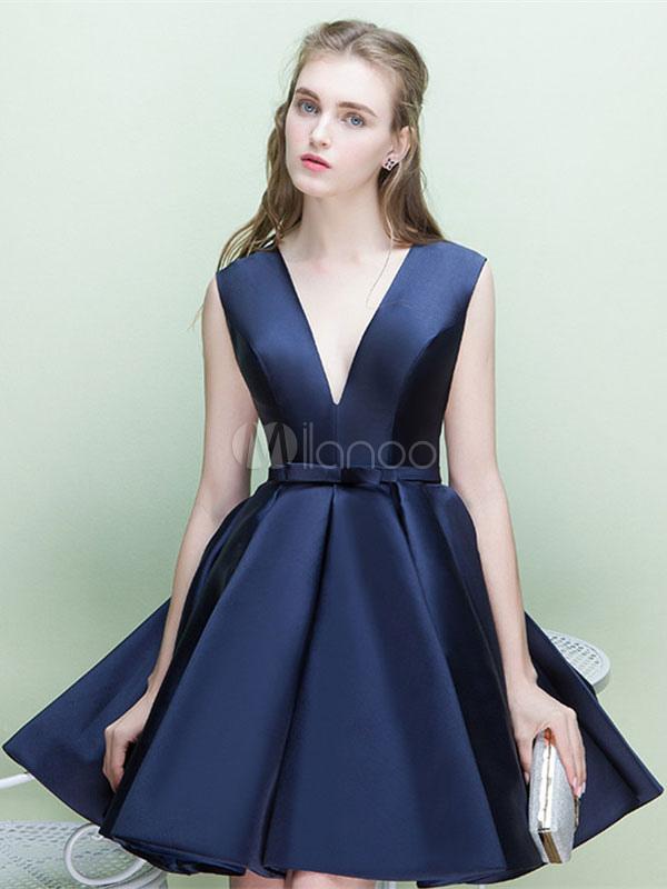 Vestidos azul marino para coctel
