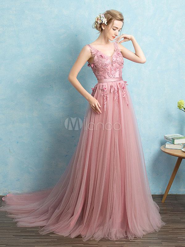 Vestido de noche de tul vestido de fiesta sin espalda con cuello en ...