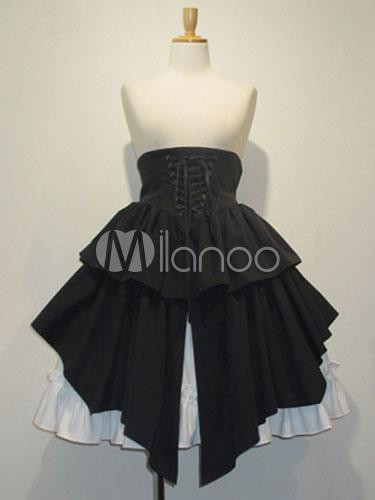 Buy Gothic Lolita Dress SK Black High Waist Lolita Skirt for $68.99 in Milanoo store