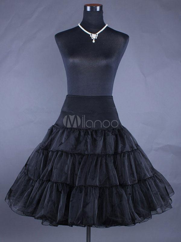Sweet Lolita Petticoat 2018 Black High Waist Lolita Pettiskirt