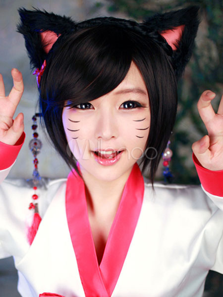 ... League Of Legends LOL Ahri Cosplay Wig Korean Style Version  Halloween-No.3