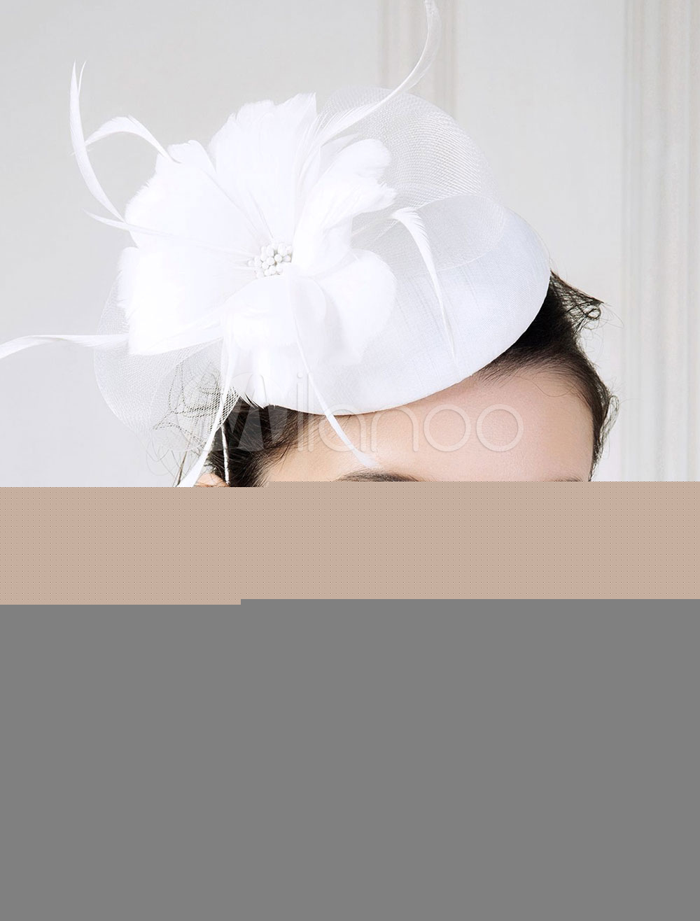 Buy Vintage Flapper Hat White Feather Flower Shape Flapper Headpiece Hat Halloween for $26.99 in Milanoo store
