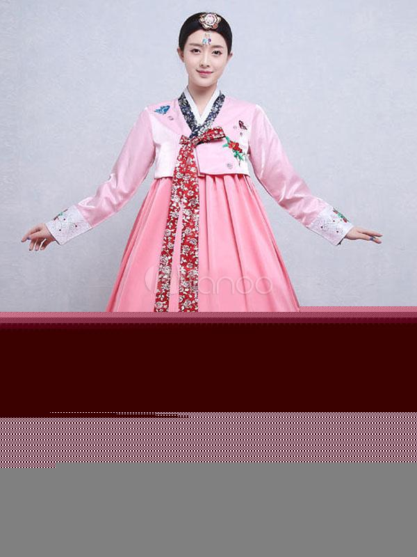 Disfraz coreano Tela Satén para día de fiesta con abrigo&con vestido ...