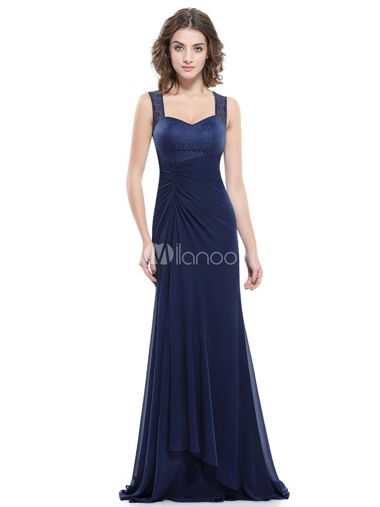 19dff589f19 Chiffon Mother Of The Bride Dress Dark Navy Sweetheart Mermaid Formal  Evening Dress Side Draped Sleeveless ...